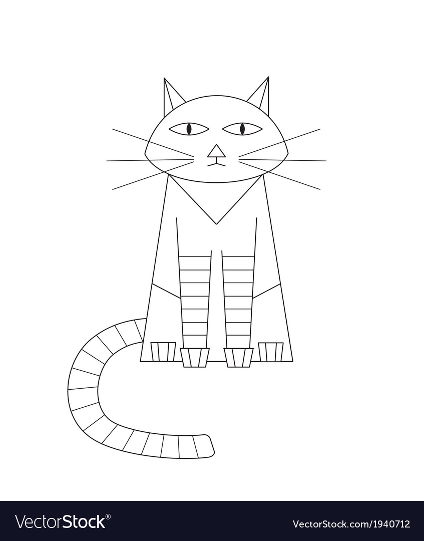 Cat drawing vector | Price: 1 Credit (USD $1)