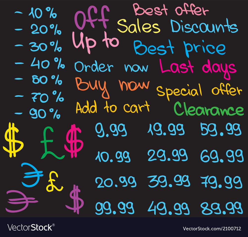 Chalkboard infographic vector | Price: 1 Credit (USD $1)