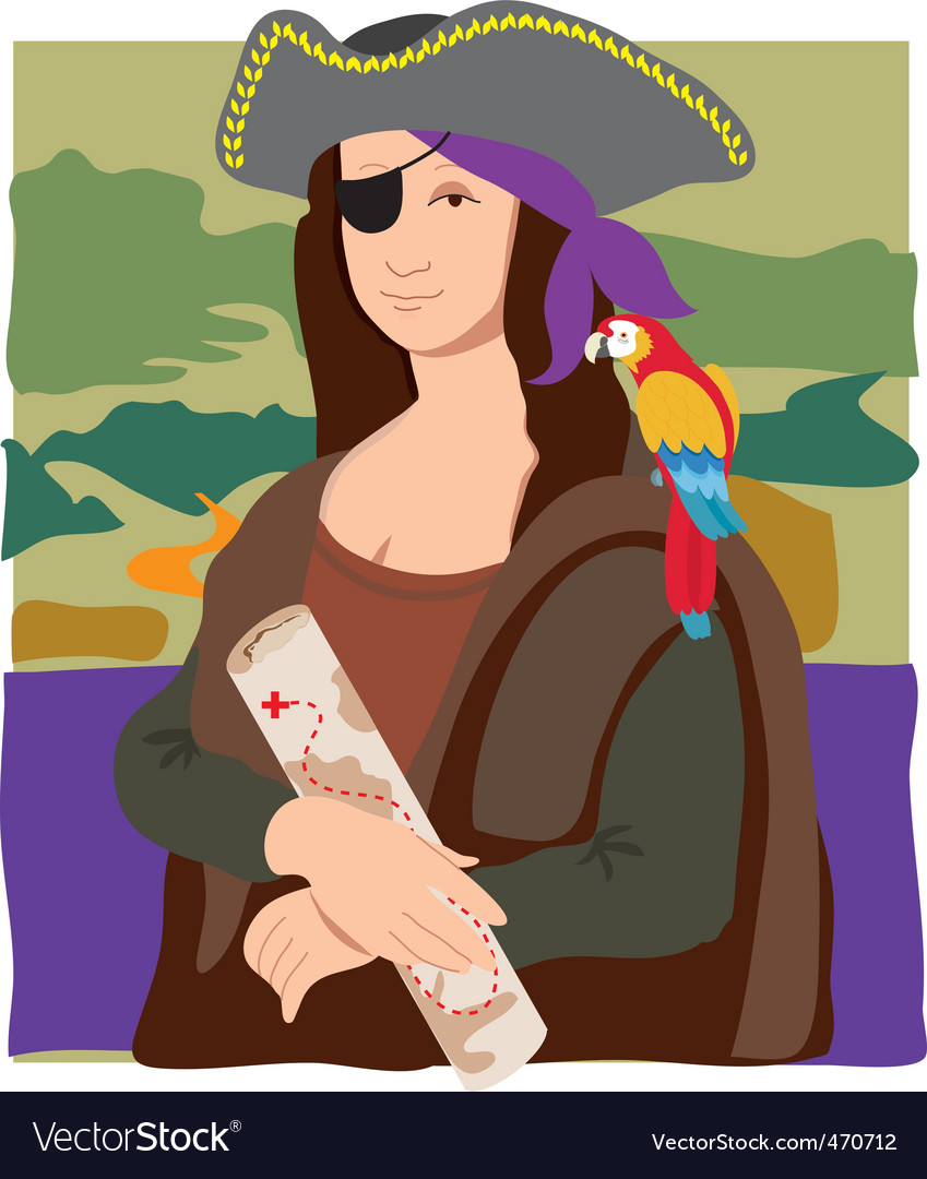 Mona lisa pirate vector | Price: 1 Credit (USD $1)