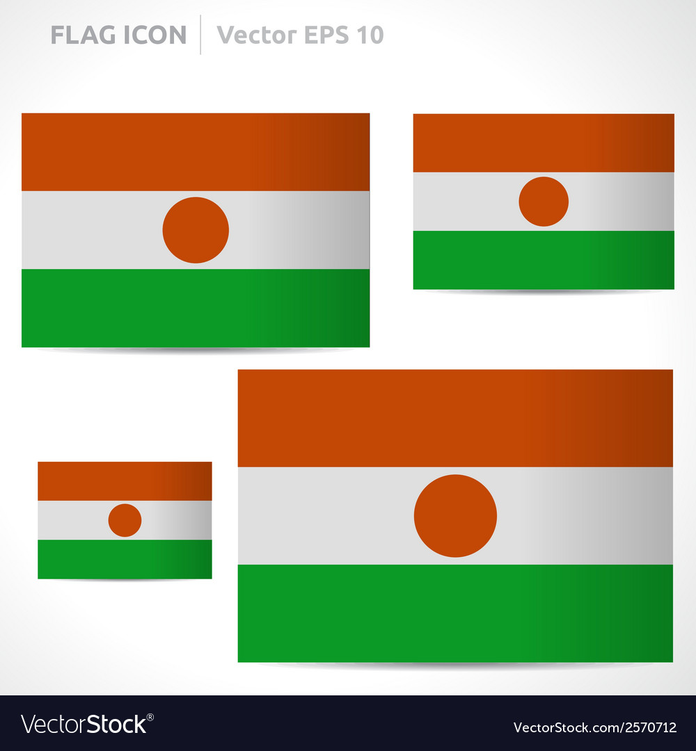 Niger flag template vector | Price: 1 Credit (USD $1)