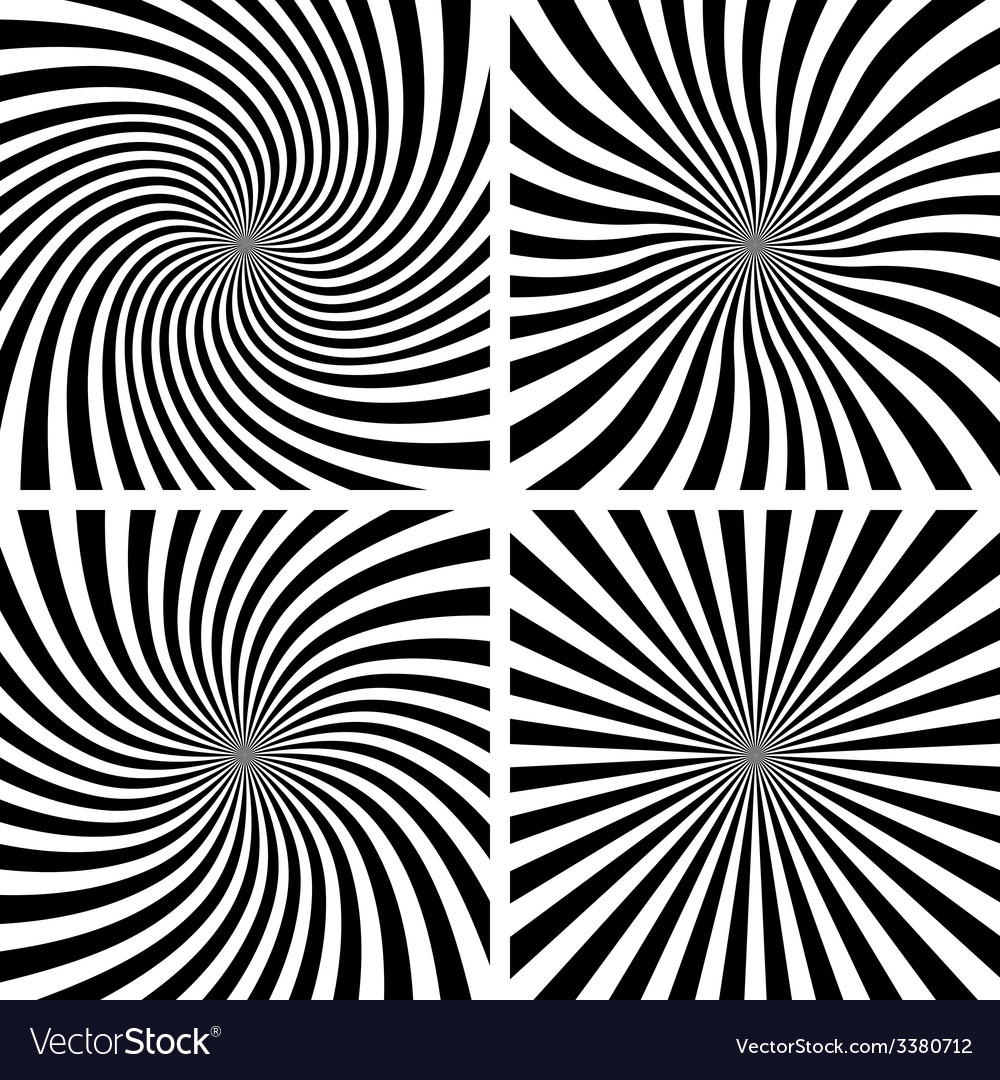 Set of spiral backgrounds vector