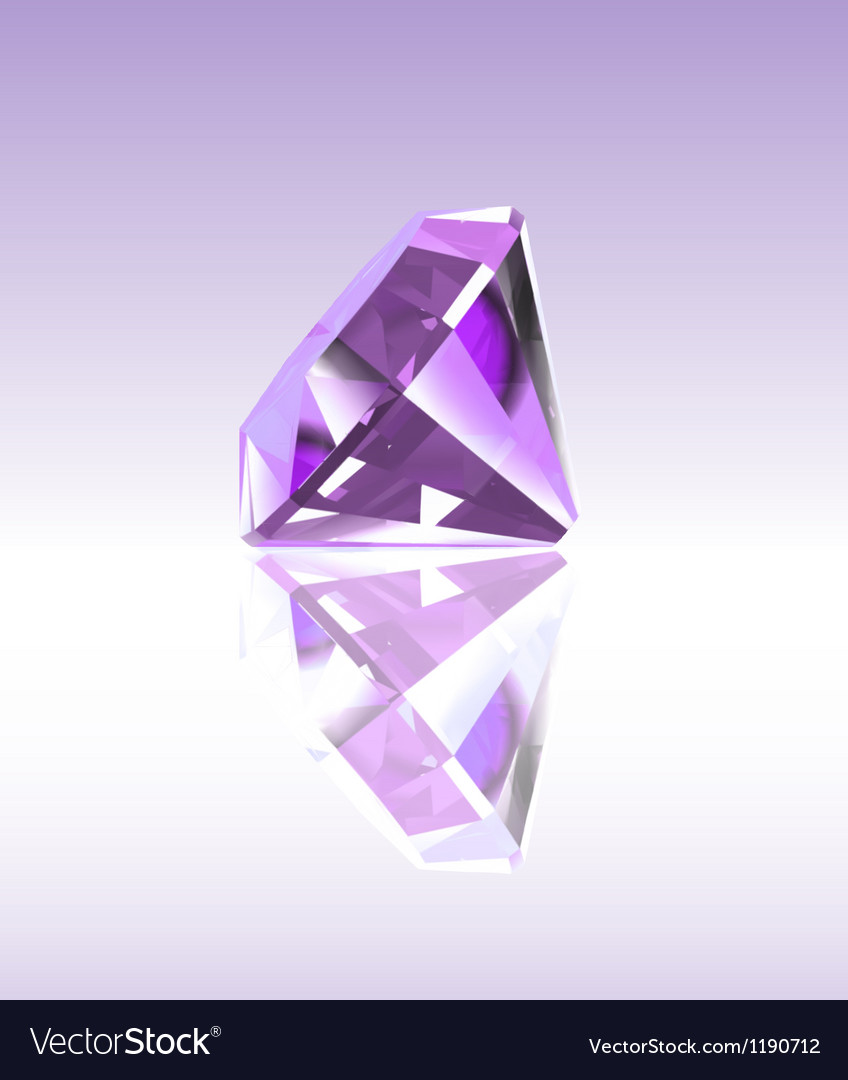 Violet diamond with reflection vector | Price: 1 Credit (USD $1)
