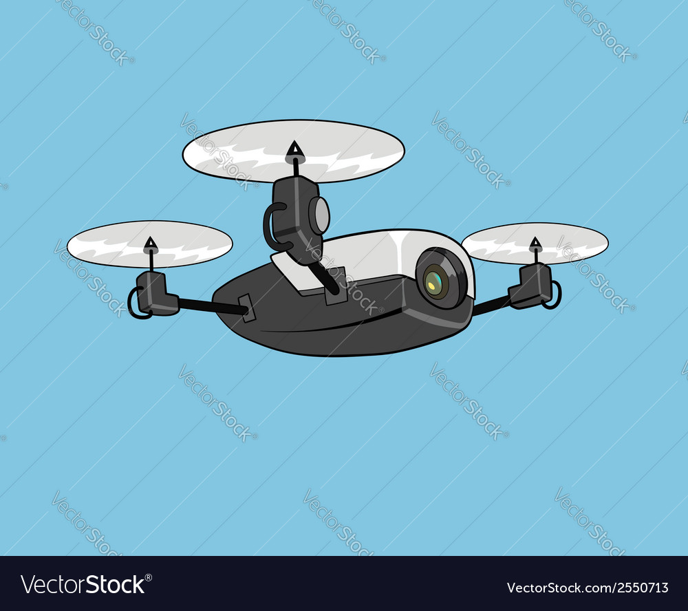 Air drone vector | Price: 1 Credit (USD $1)