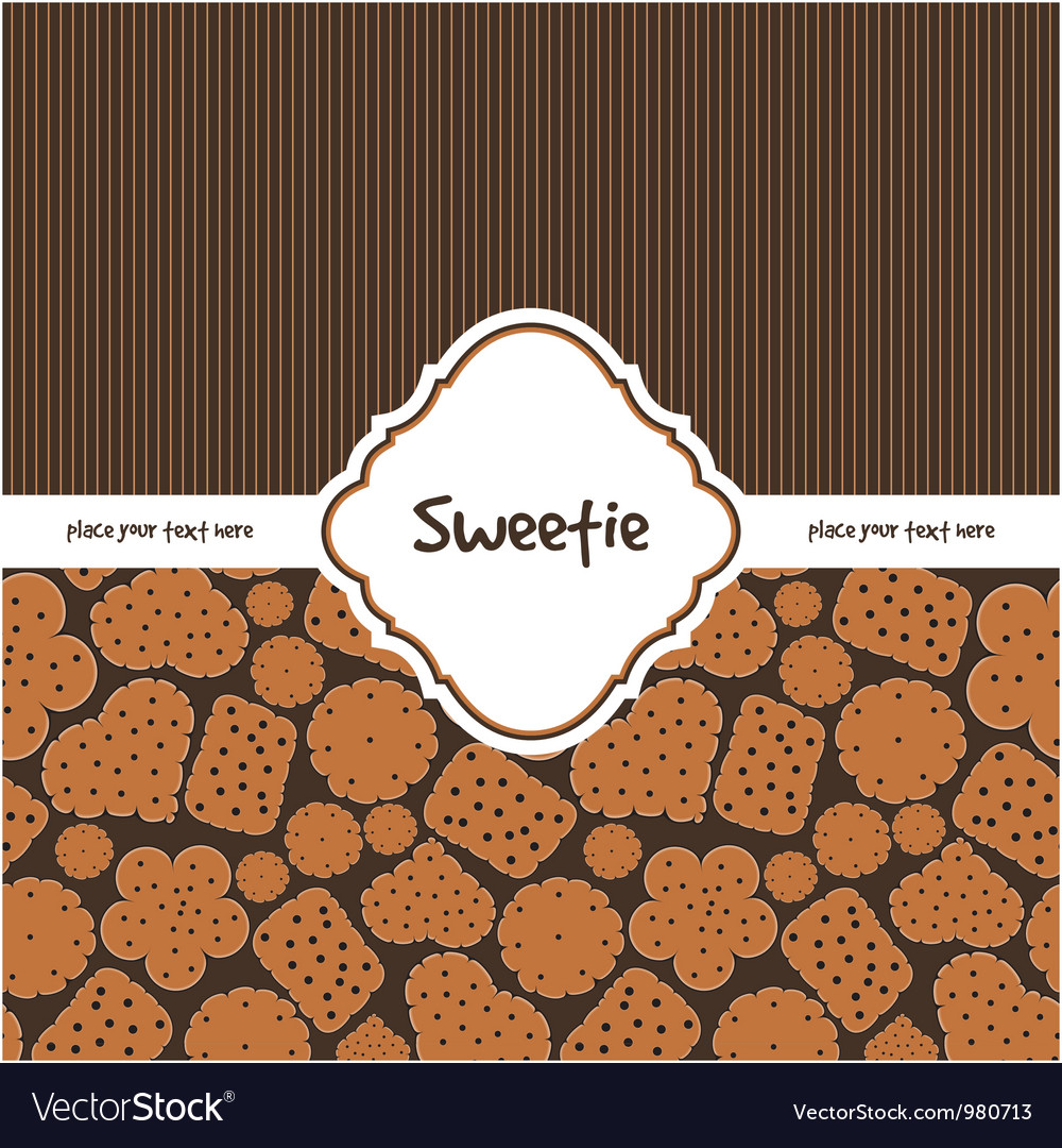 Card with sweet cookies vector | Price: 1 Credit (USD $1)