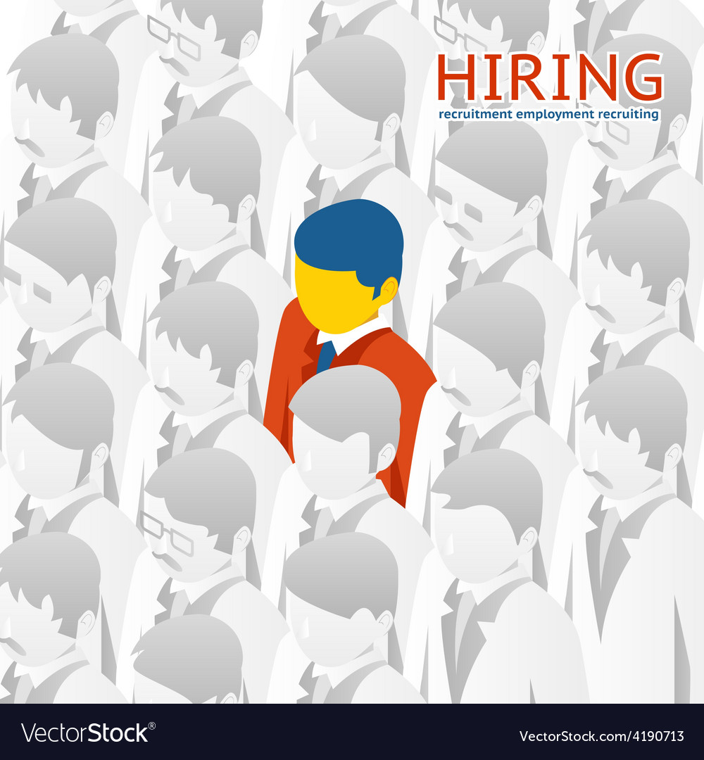 Choice person for hiring vector | Price: 1 Credit (USD $1)