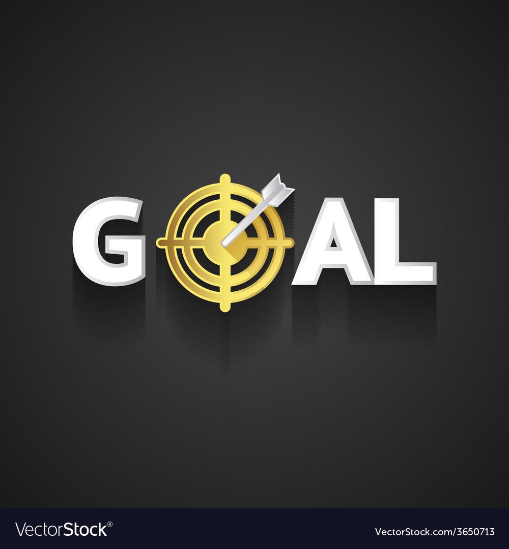 Elegant goal logo design on gray background vector   Price: 1 Credit (USD $1)