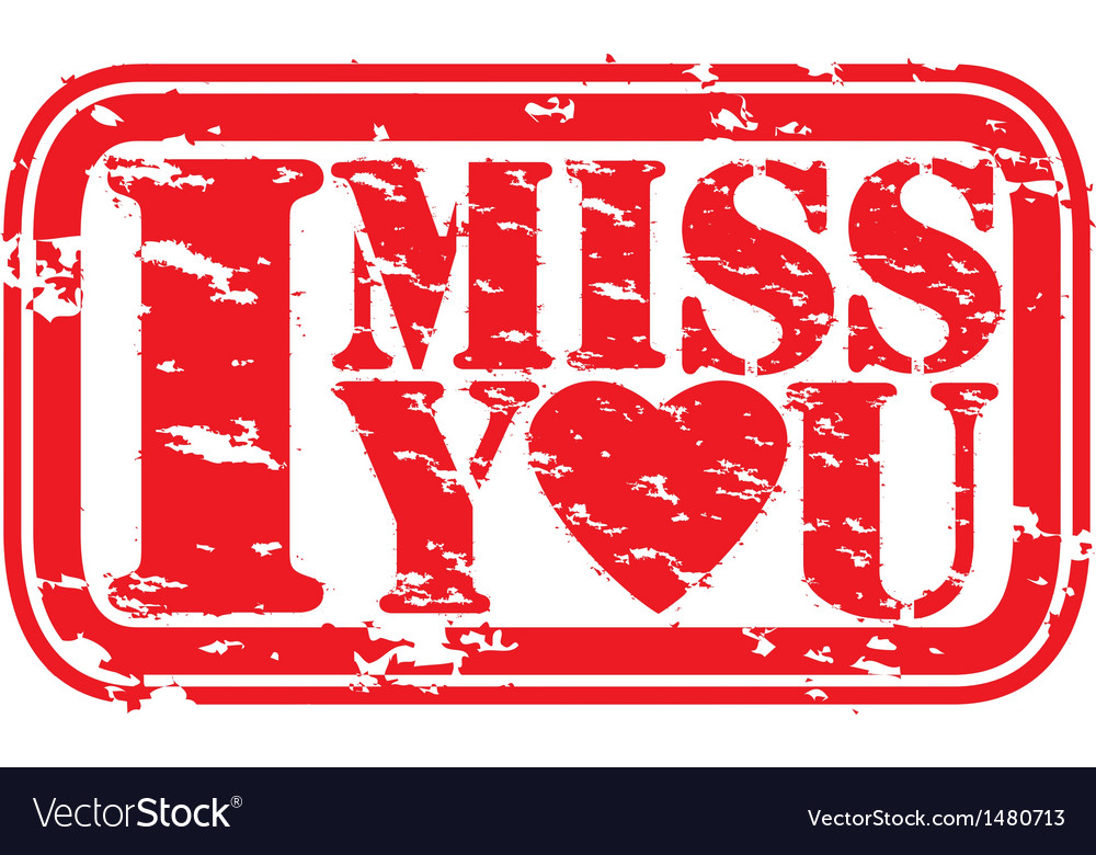 I miss you stamp vector | Price: 1 Credit (USD $1)