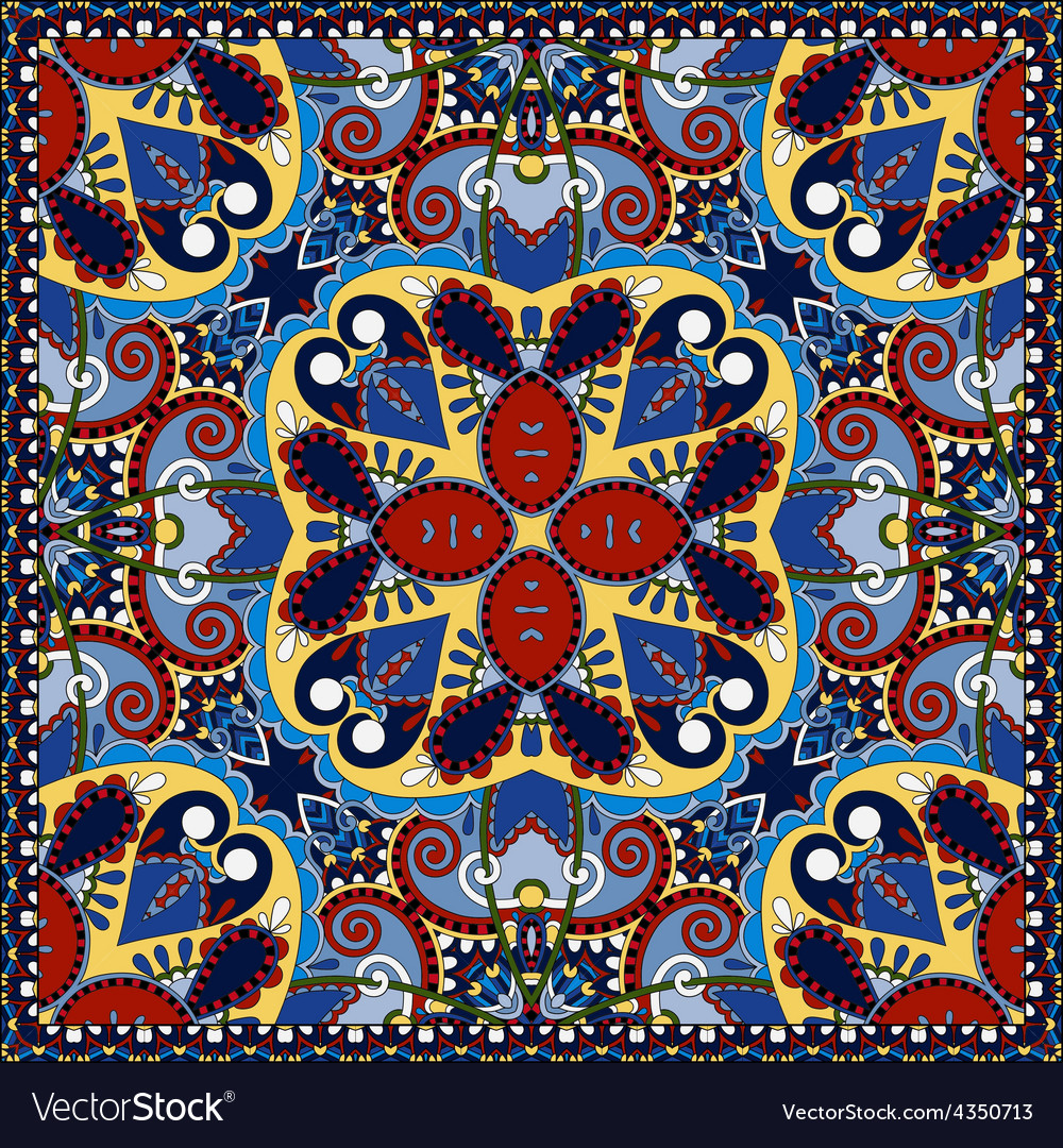 Silk neck scarf or kerchief square pattern desig vector   Price: 1 Credit (USD $1)