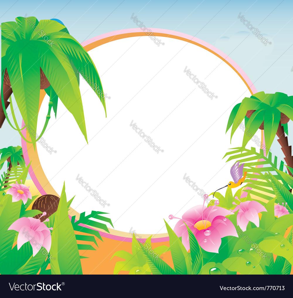 Tropical landscape vector | Price: 1 Credit (USD $1)