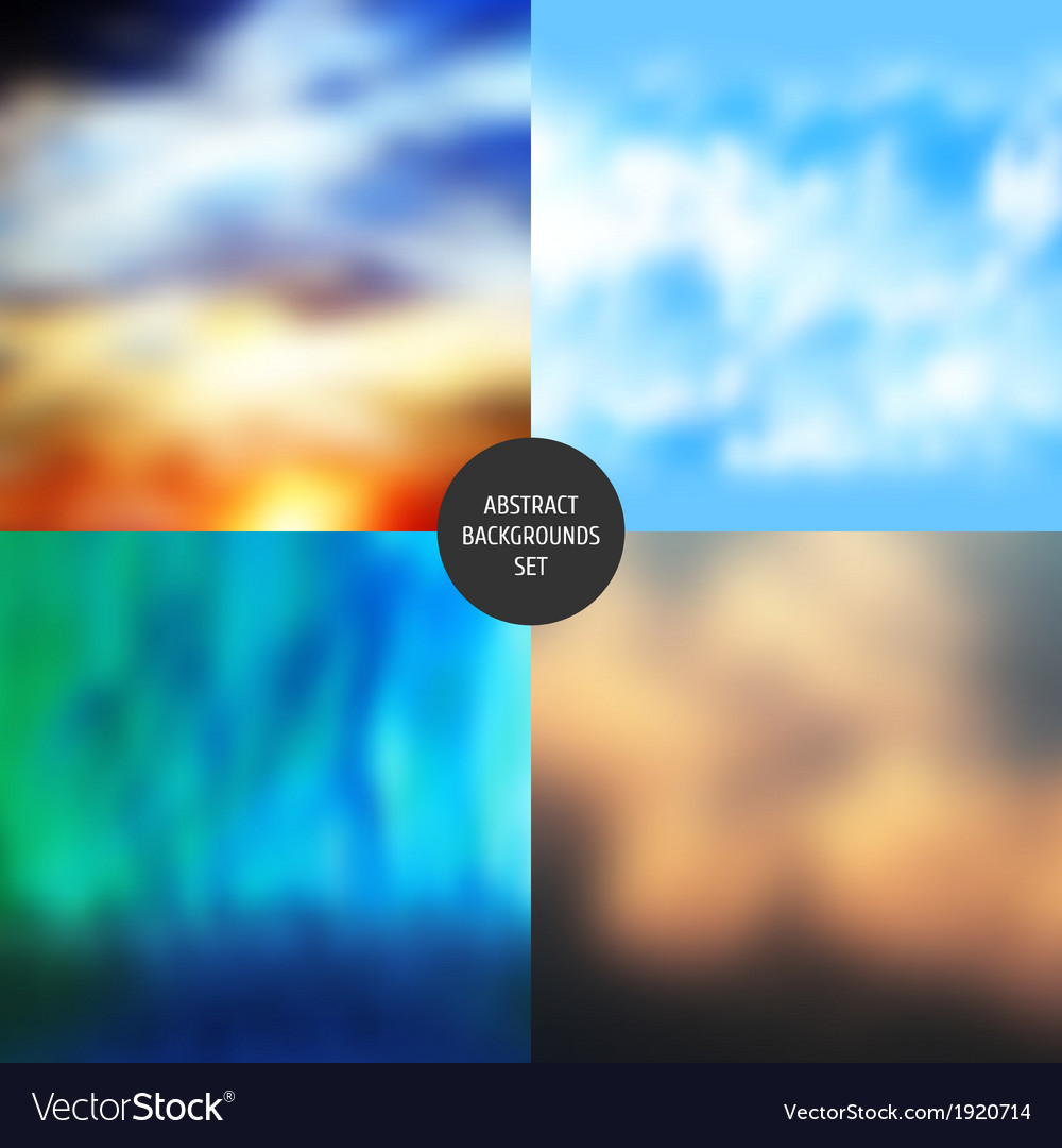 Abstract backgrounds set vector | Price: 1 Credit (USD $1)
