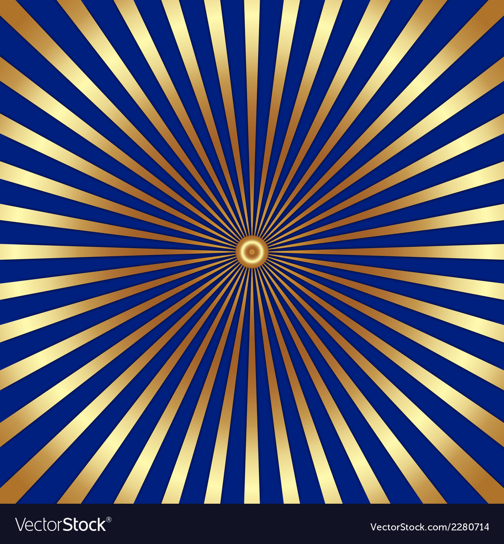 Abstract dark background with golden rays vector | Price: 1 Credit (USD $1)