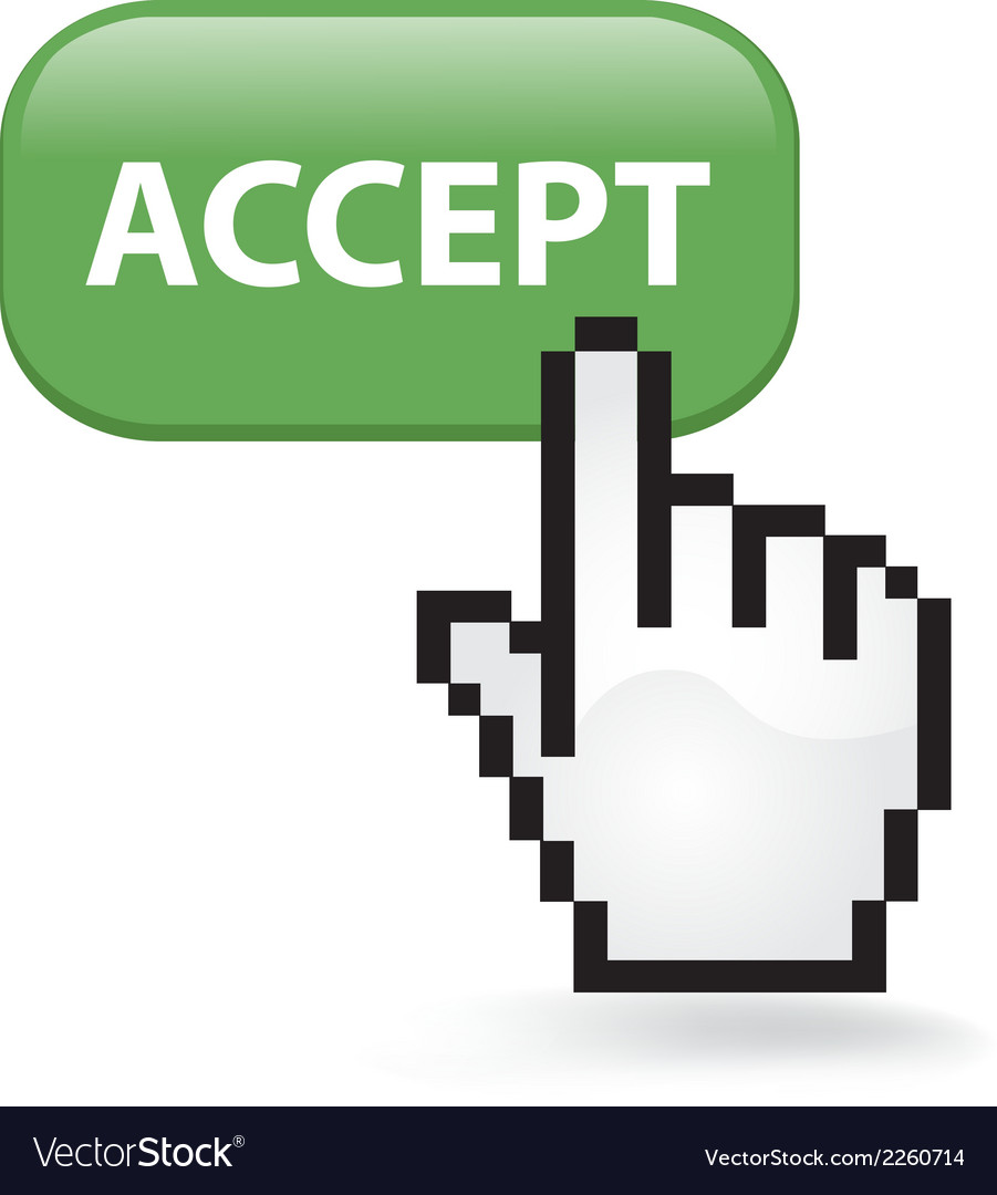 Accept button vector | Price: 1 Credit (USD $1)
