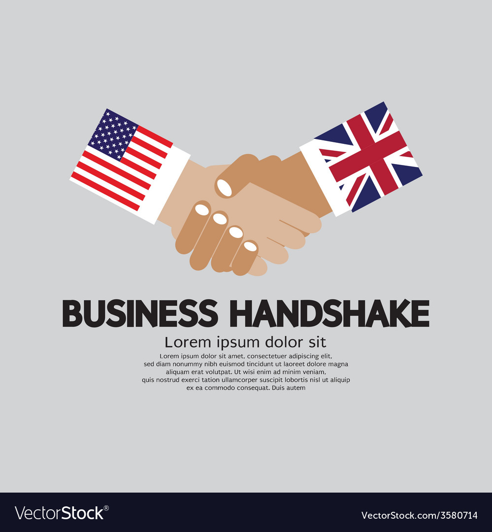 Business handshake usa and uk vector | Price: 1 Credit (USD $1)