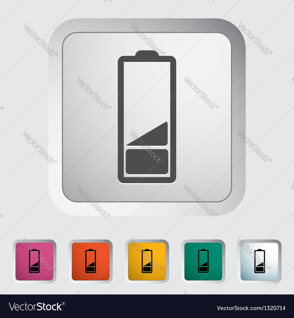 Charging the battery single icon vector | Price: 1 Credit (USD $1)
