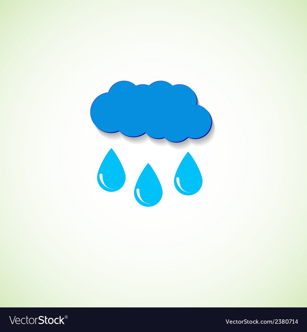 Cloud and raindrops eps vector | Price: 1 Credit (USD $1)