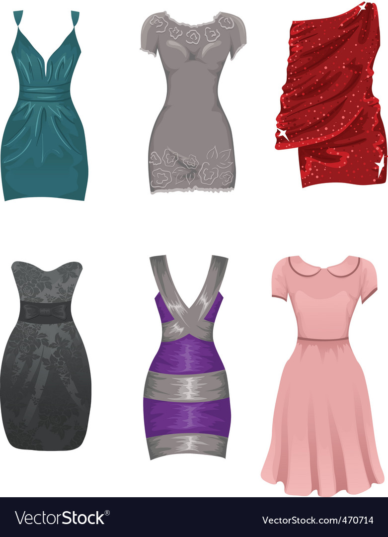 Female dresses vector | Price: 1 Credit (USD $1)