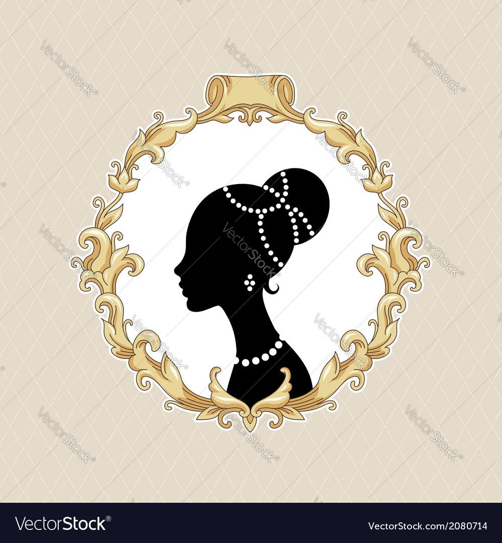 Frame barocco portrait vector | Price: 1 Credit (USD $1)