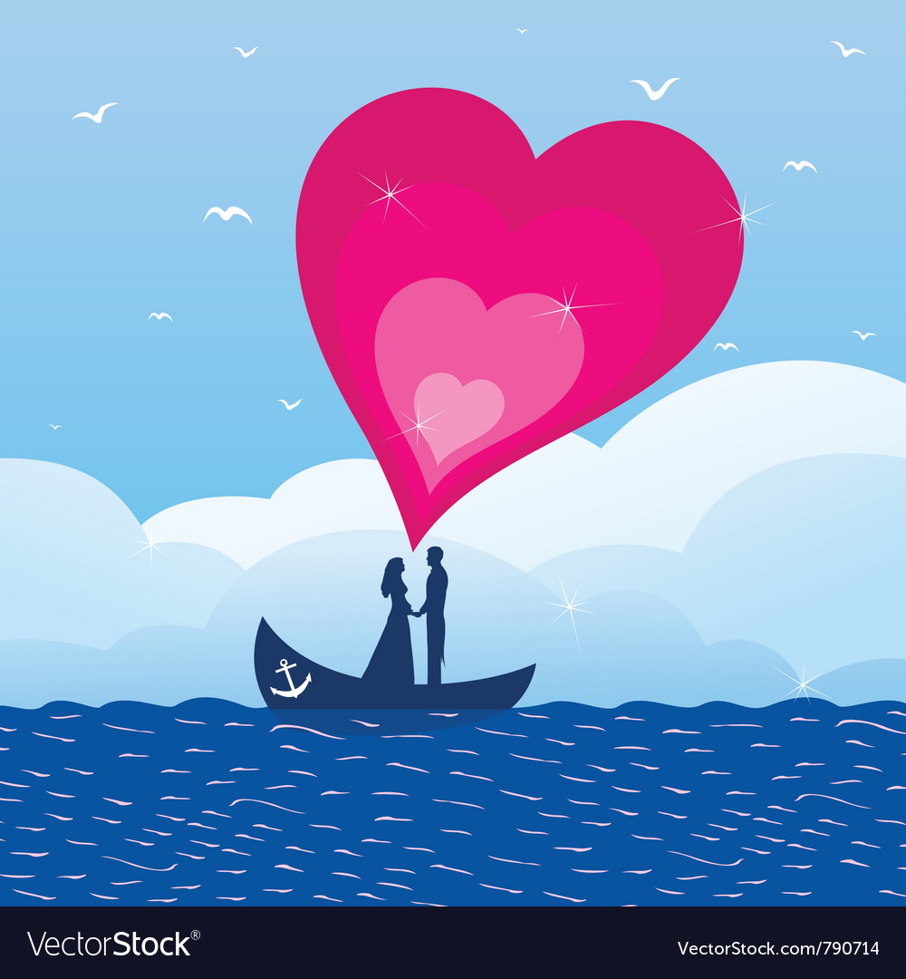 Love boat vector | Price: 1 Credit (USD $1)