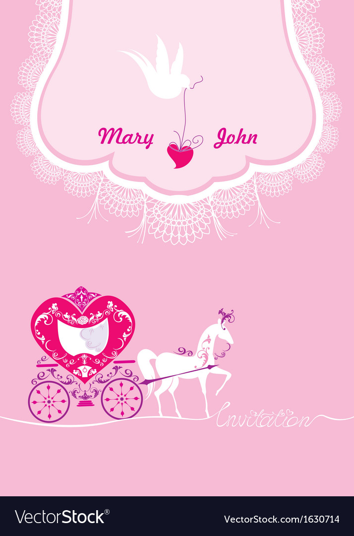 Pink greeting card with a lace ornament vector | Price: 3 Credit (USD $3)