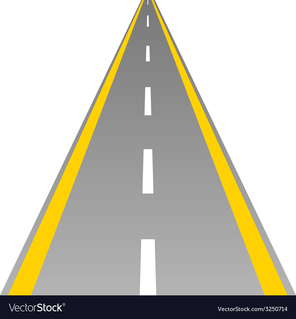 Road with yellow and white line vector | Price: 1 Credit (USD $1)