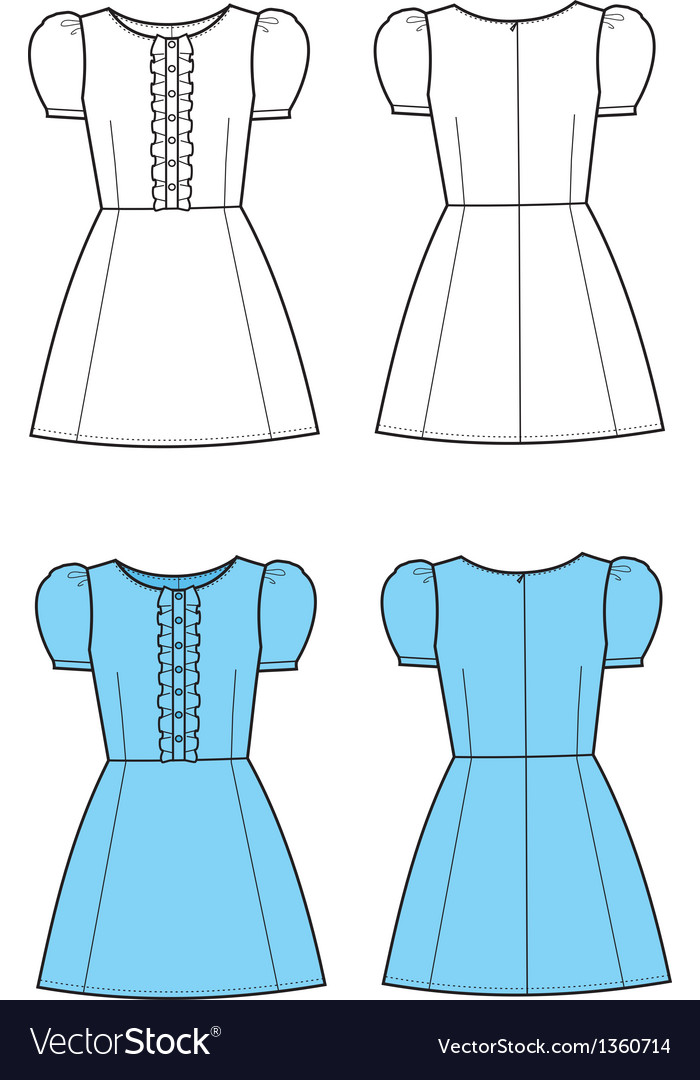Romantic dress vector | Price: 1 Credit (USD $1)