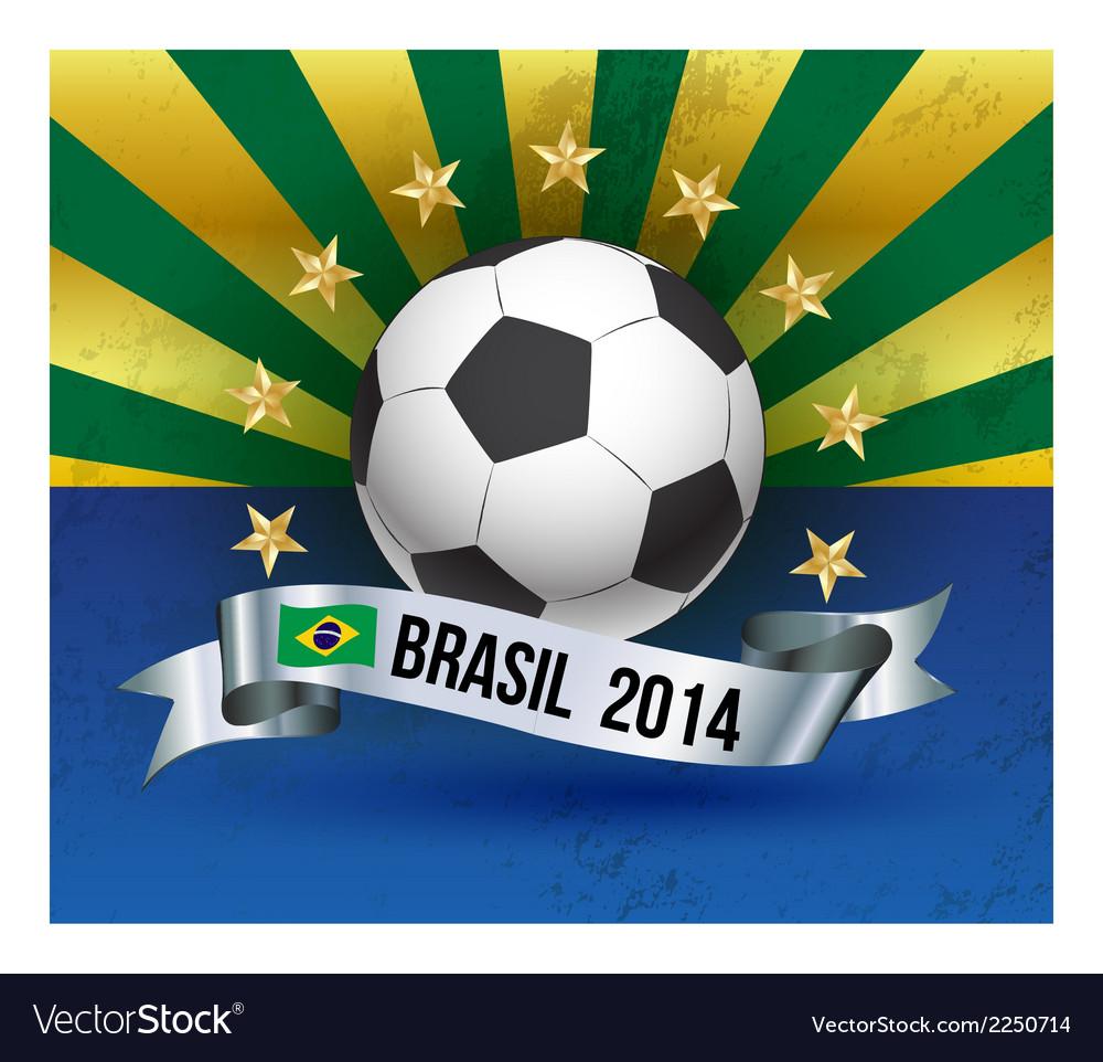 Soccer poster brazil 2014 vector | Price: 1 Credit (USD $1)