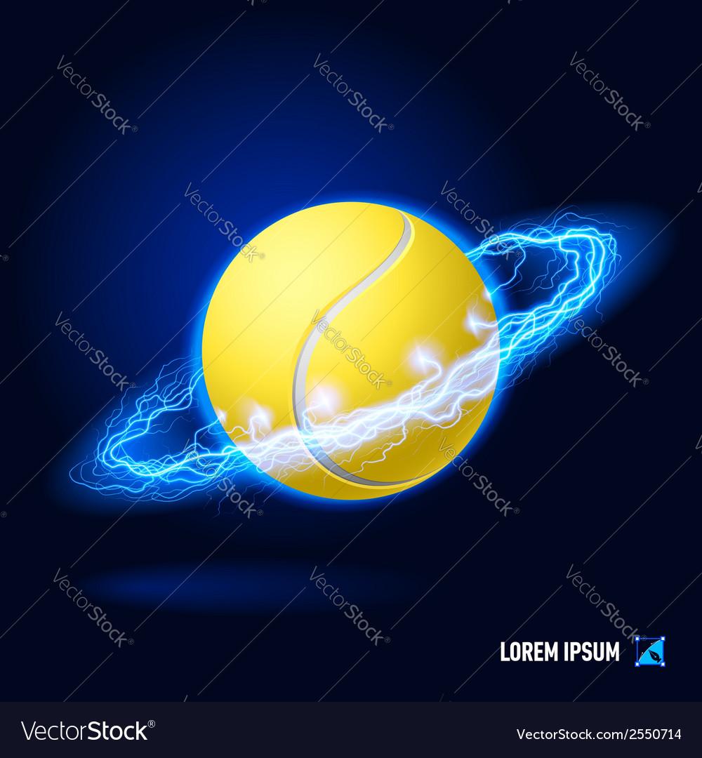 Tennis high voltage vector   Price: 1 Credit (USD $1)