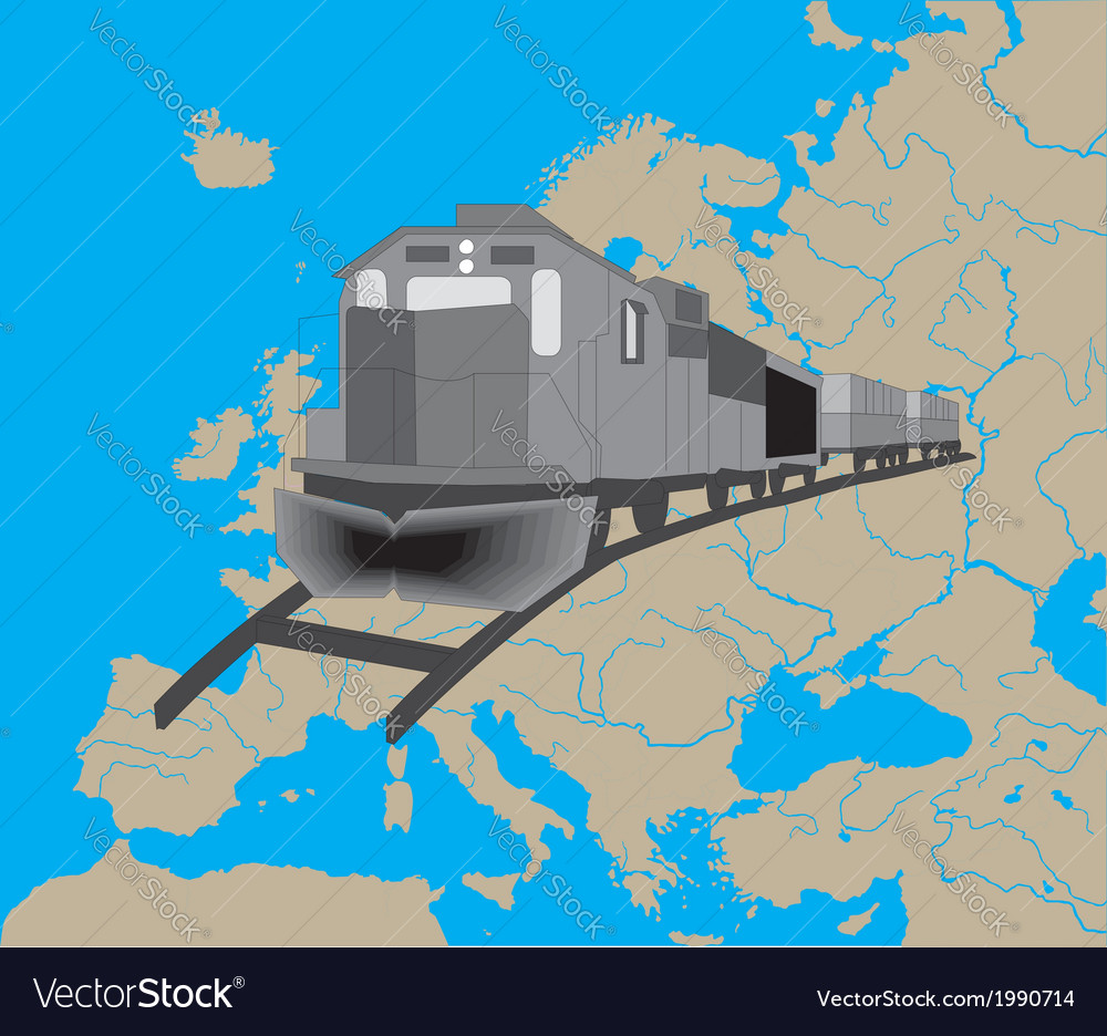 Train in europe vector | Price: 1 Credit (USD $1)