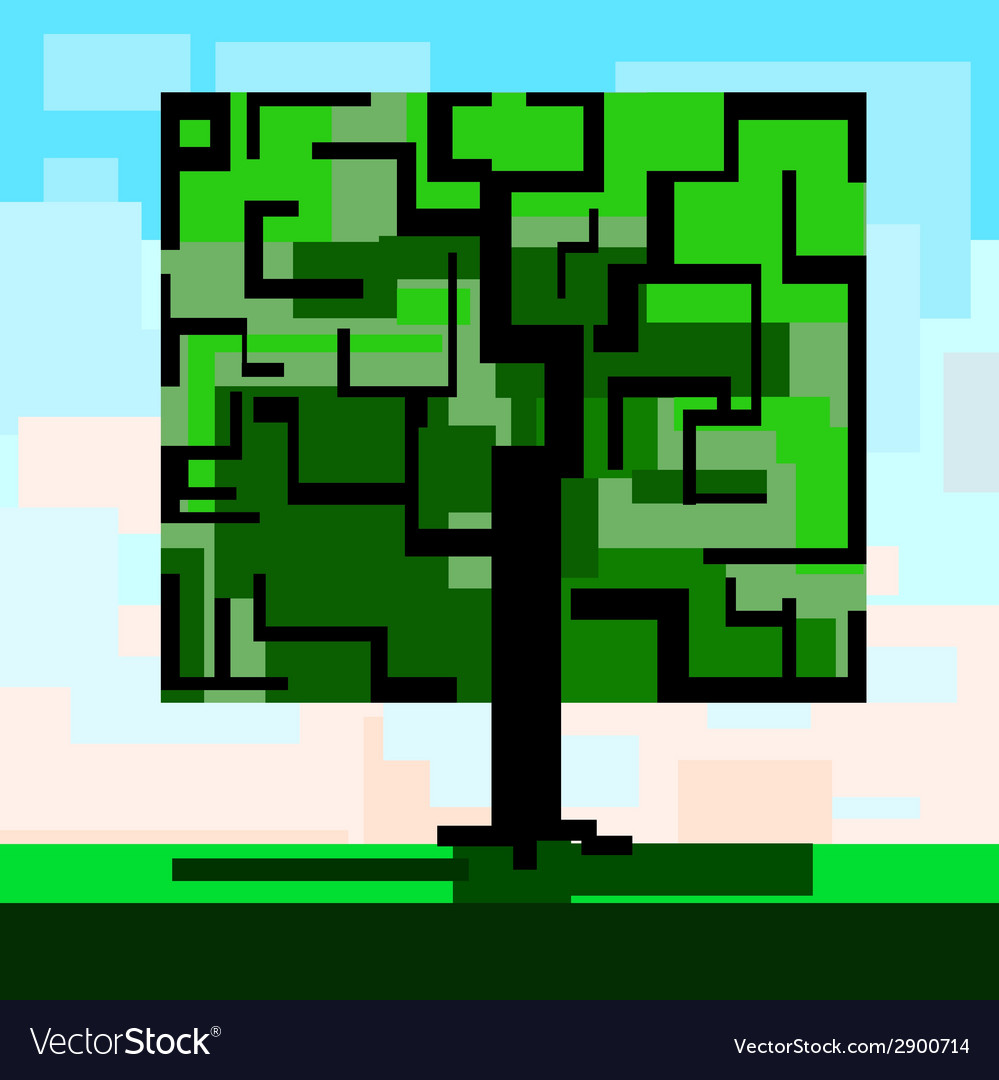 Tree square vector | Price: 1 Credit (USD $1)