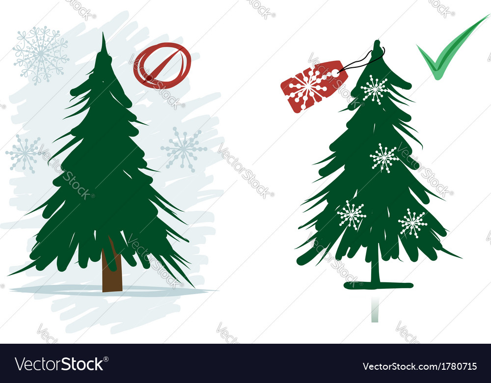 Artificial christmas trees instead natural from vector | Price: 1 Credit (USD $1)