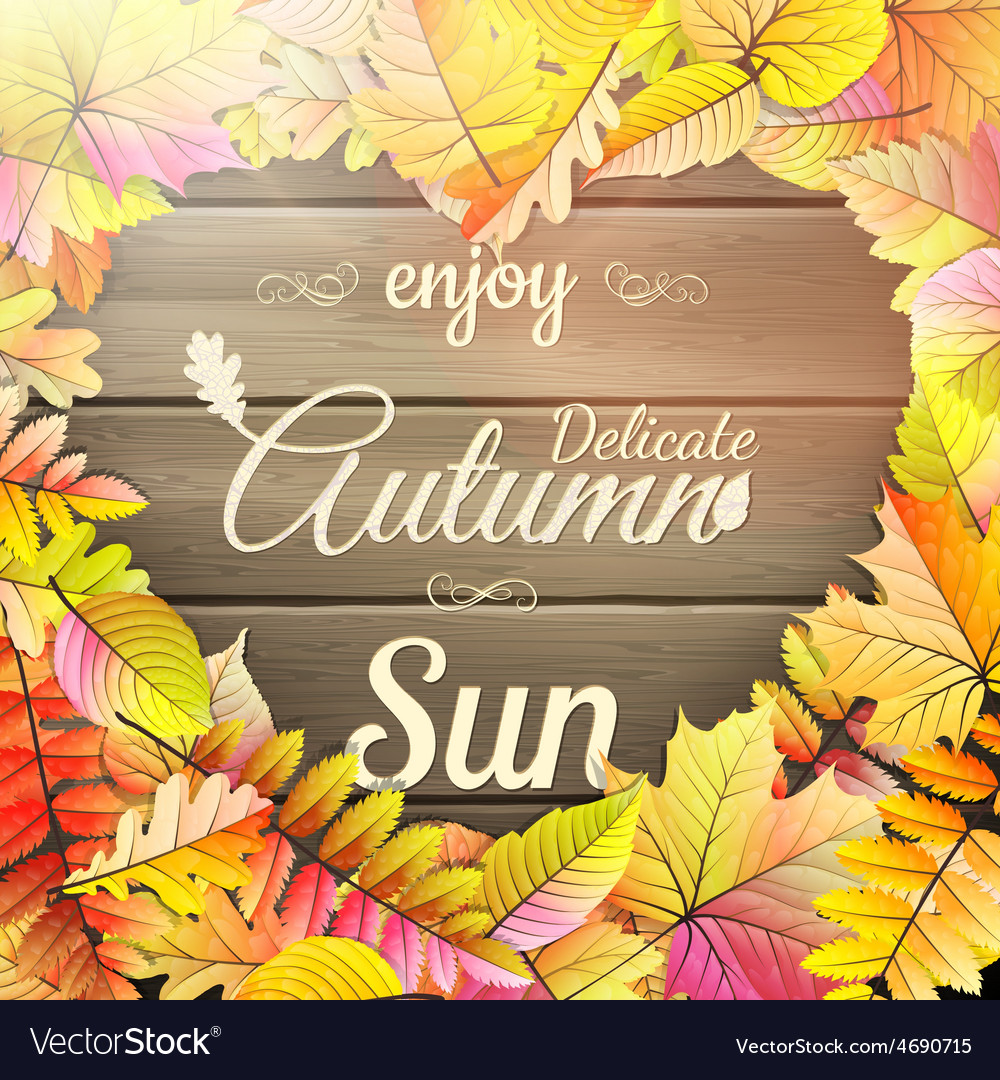 Autumn typography poster eps 10 vector | Price: 3 Credit (USD $3)