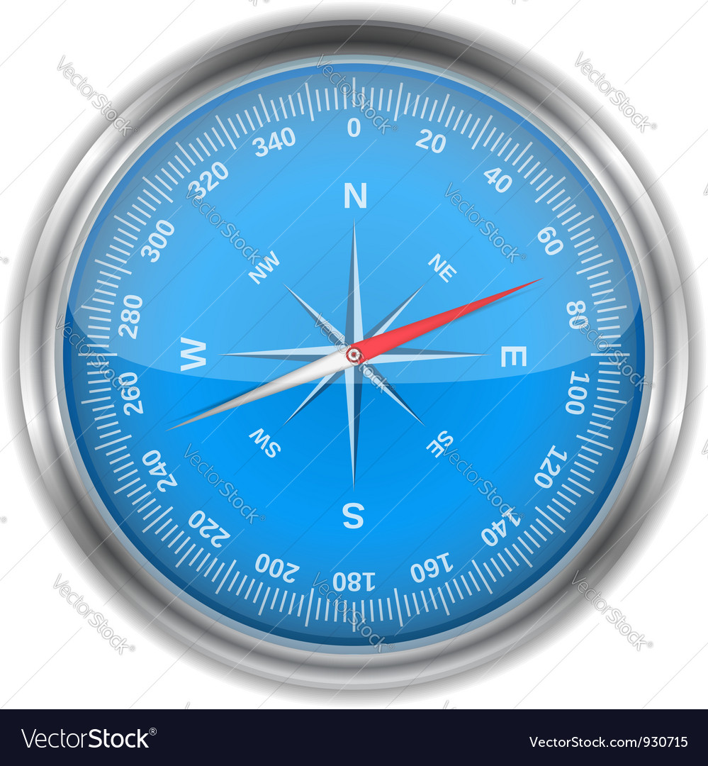 Blue compass vector | Price: 3 Credit (USD $3)
