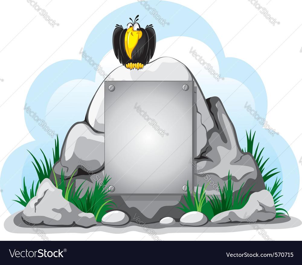 Cartoon crow perched vector   Price: 1 Credit (USD $1)