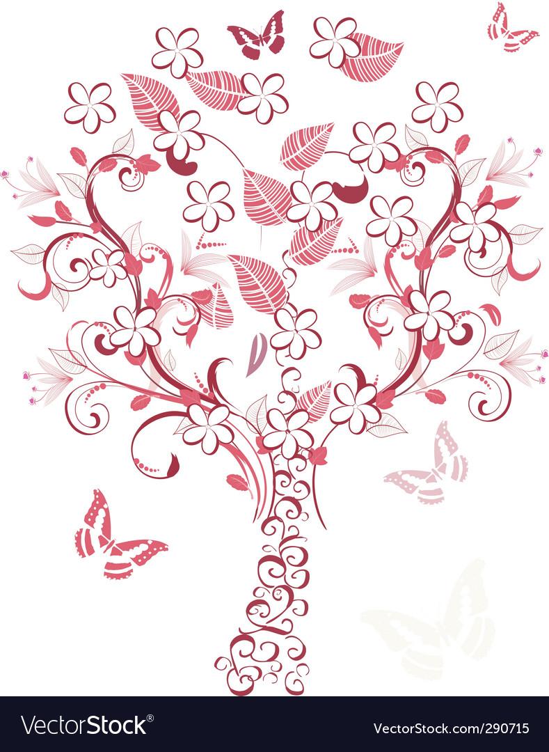 Cherry tree vector | Price: 1 Credit (USD $1)