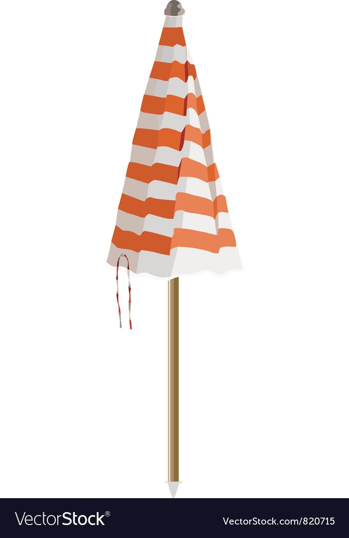 Closed beach umbrella vector | Price: 1 Credit (USD $1)