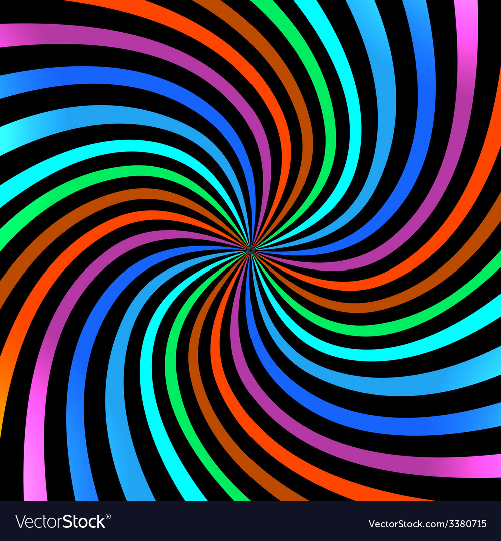 Colorful bright spiral background logo design elem vector | Price: 1 Credit (USD $1)