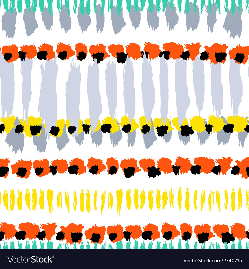 Grunge hand painted seamless pattern vector | Price: 1 Credit (USD $1)