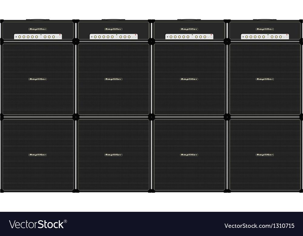Guitar stack vector
