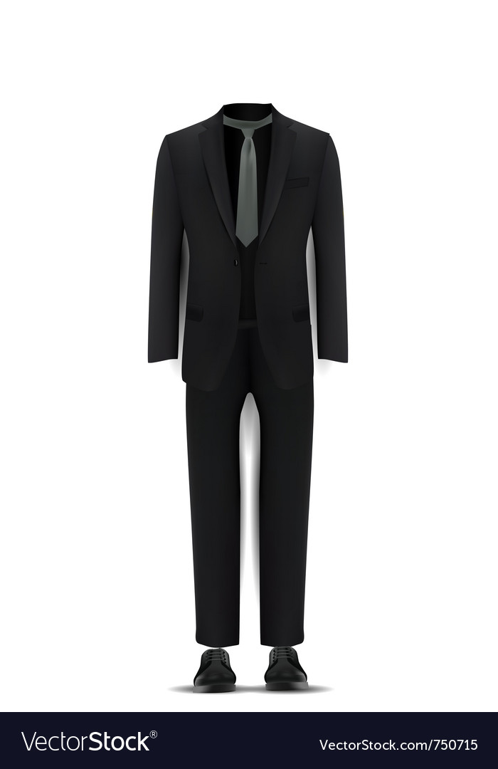 Men suit vector | Price: 1 Credit (USD $1)