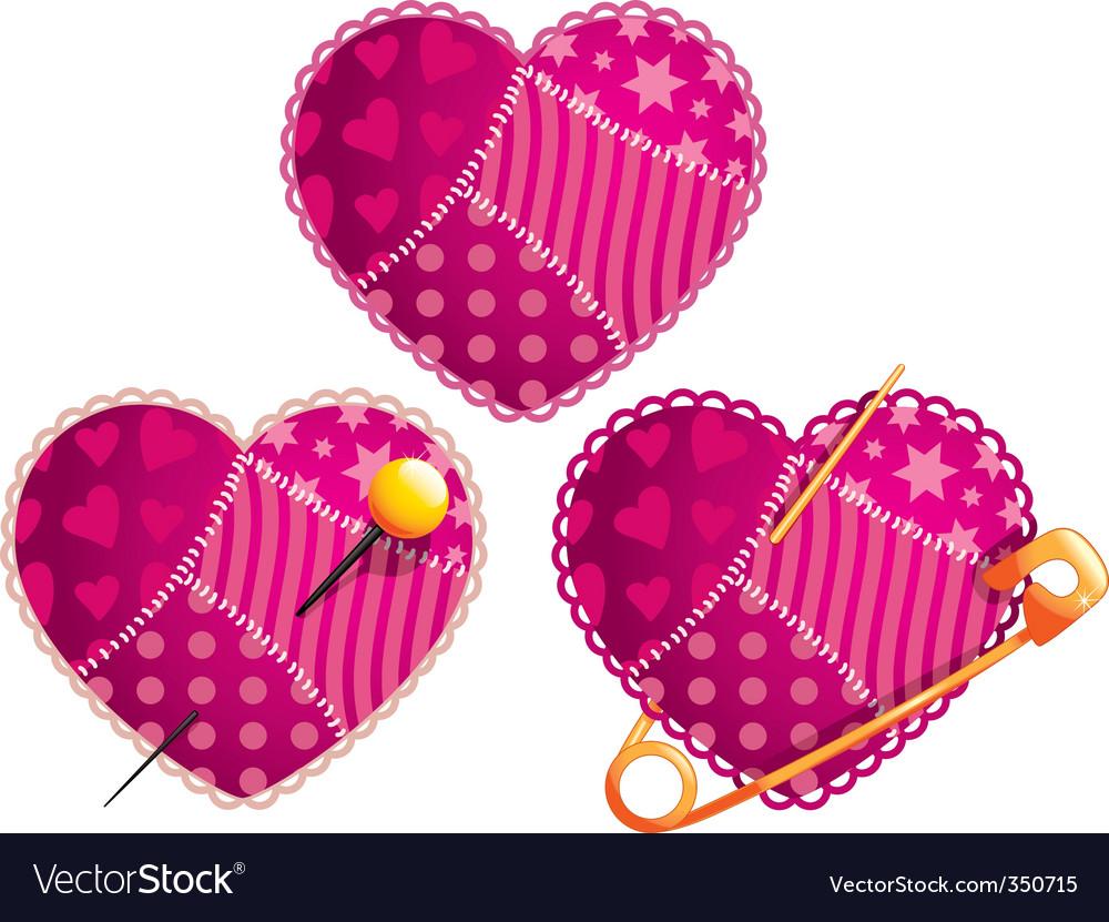 Rag heart vector | Price: 1 Credit (USD $1)