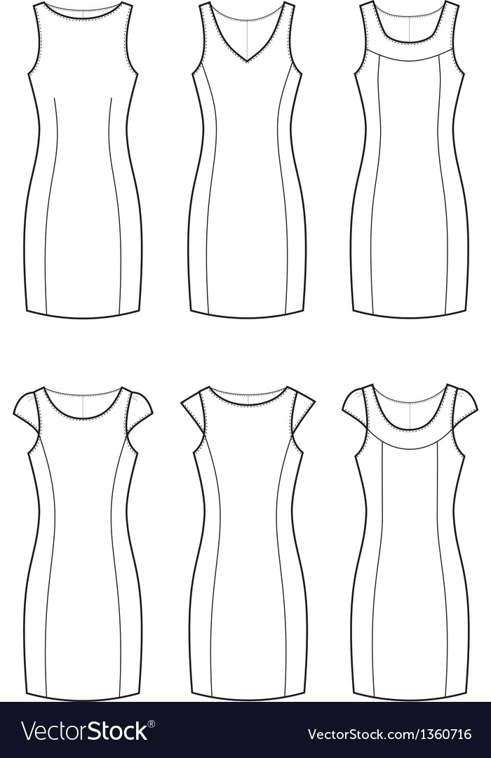 Classic dresses vector | Price: 1 Credit (USD $1)