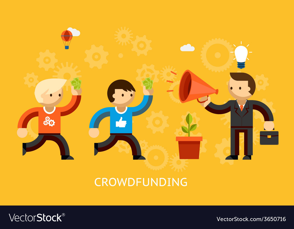 Crowd funding concept vector | Price: 1 Credit (USD $1)