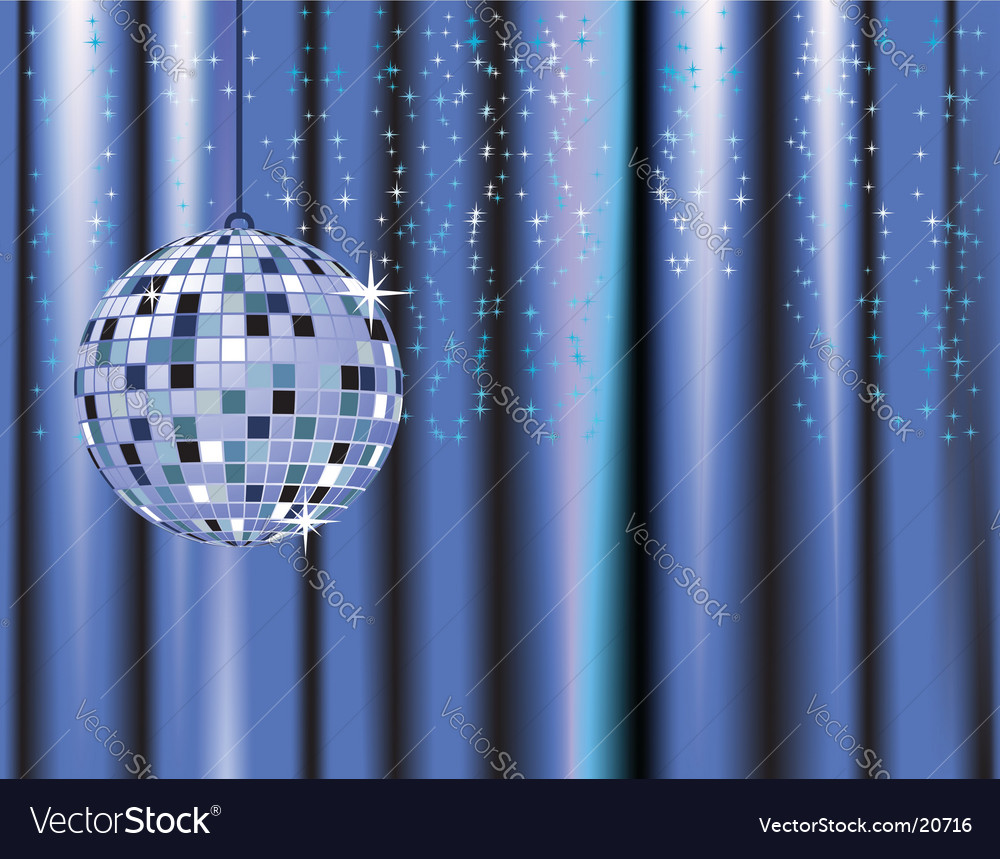 Disco ball curtains vector | Price: 1 Credit (USD $1)