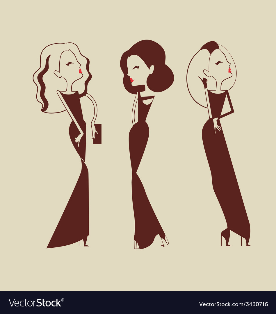 Fashion woman collection vector | Price: 1 Credit (USD $1)