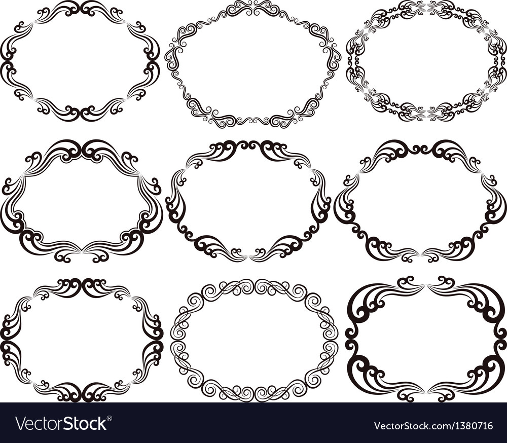 Frames oval vector | Price: 1 Credit (USD $1)