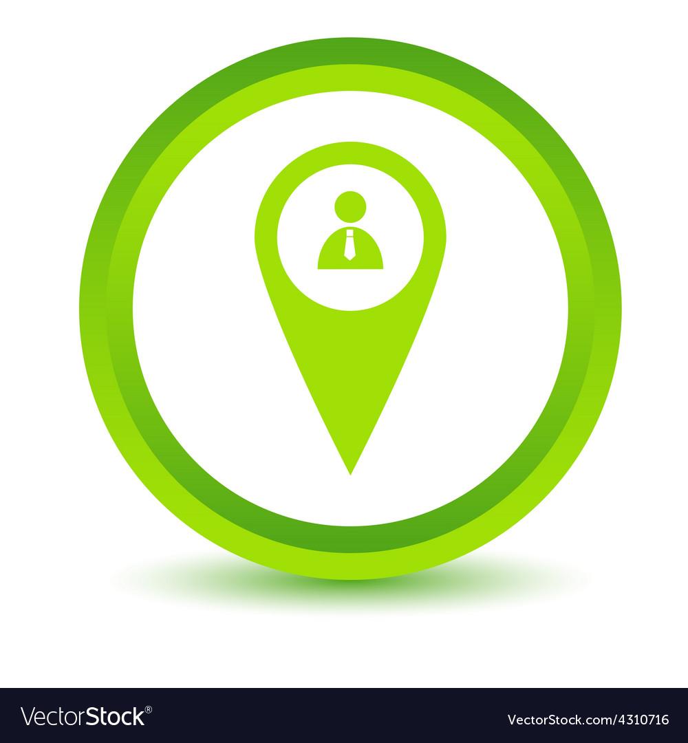 Green man pointer icon vector | Price: 1 Credit (USD $1)