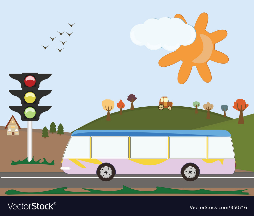 Holiday bus vector | Price: 1 Credit (USD $1)