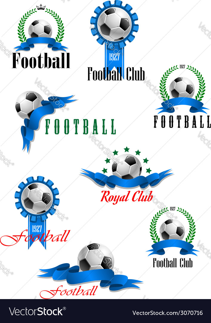 Large set of football emblems vector | Price: 1 Credit (USD $1)