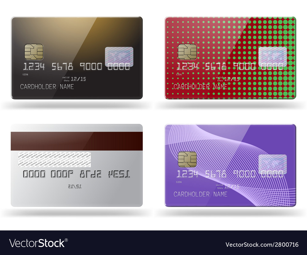 Set of glossy credit cards vector | Price: 1 Credit (USD $1)