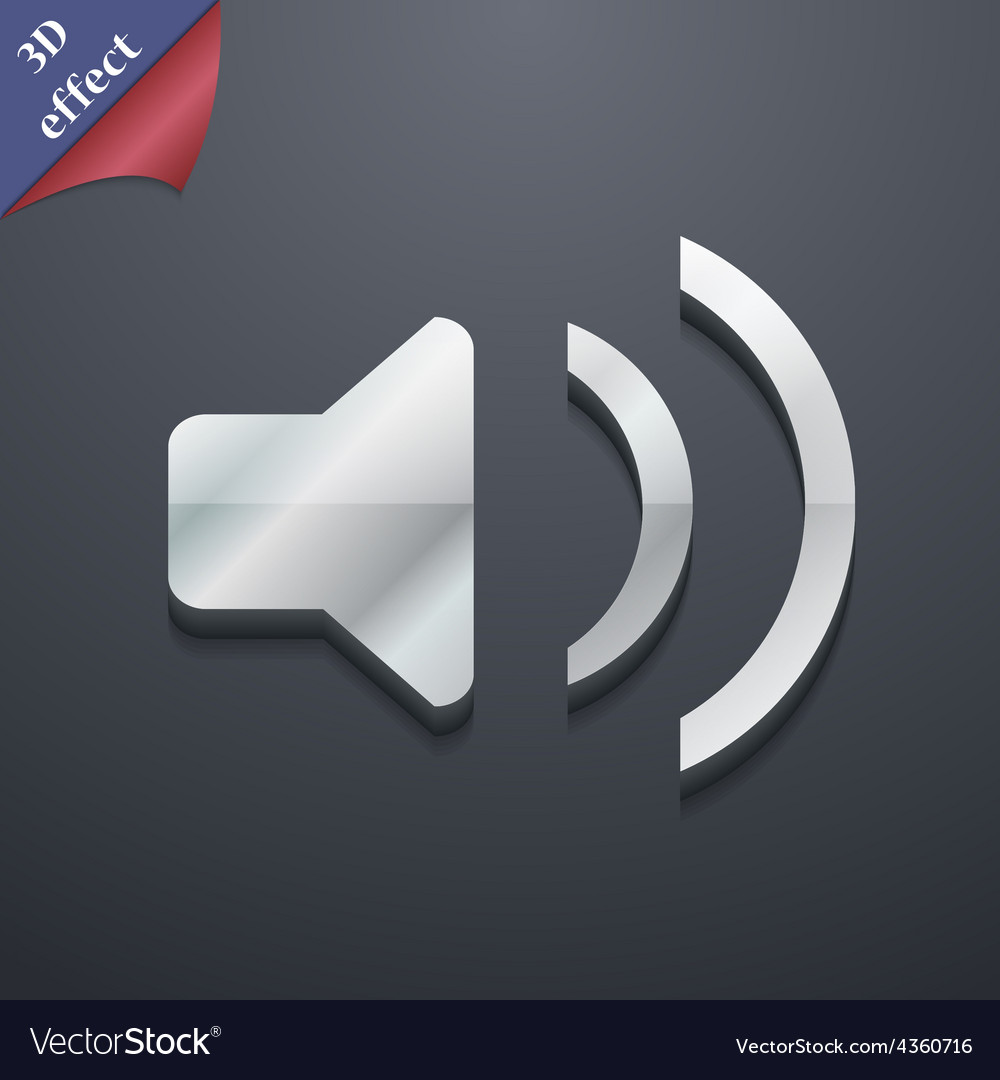 Speaker volume sound icon symbol 3d style trendy vector | Price: 1 Credit (USD $1)